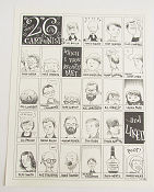 26 Cartoonists I Have Recently Met Signed No 78 of 100 2008 affisch