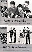 A Hard Day´s Night 1964 lobbykort Beatles Richard Lester