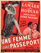 A Lady Without Passport 1950 poster Hedy Lamarr Joseph H Lewis