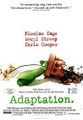 Adaptation 2002 poster Nicolas Cage Spike Jonze