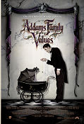 Addams Family Values 1993 poster Anjelica Huston Barry Sonnenfeld