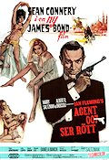 Agent 007 ser rött 1964 poster Sean Connery Terence Young