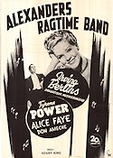Alexander's Ragtime Band 1938 poster Tyrone Power