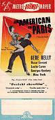 An American in Paris 1951 poster Gene Kelly Vincente Minnelli