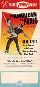 An American in Paris 1952 poster Gene Kelly Vincente Minnelli