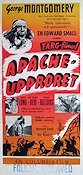 Apacheupproret 1953 poster George Montgomery