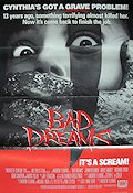 Bad Dreams 1988 poster Jennifer Rubin