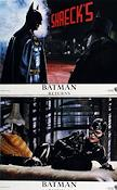 Batman Returns 1992 lobbykort Michael Keaton Tim Burton