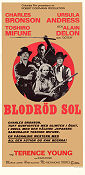 Blodröd sol 1972 poster Charles Bronson Terence Young