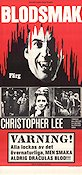 Blodsmak 1970 Filmaffisch Christopher Lee