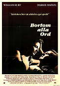 Bortom alla ord 1986 poster William Hurt Randa Haines