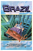 Brazil 1985 poster Jonathan Pryce Terry Gilliam