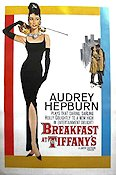 Breakfast at Tiffany's 1961 poster Audrey Hepburn Blake Edwards