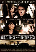 Breaking and Entering 2006 poster Jude Law Anthony Minghella