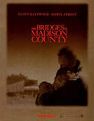 The Bridges of Madison County 1995 poster Clint Eastwood