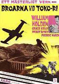 Broarna vid Toko-ri 1955 poster William Holden