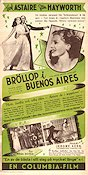 Bröllop i Buenos Aires 1942 poster Fred Astaire