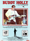 Buddy Holly en rocklegend 1978 poster Gary Busey