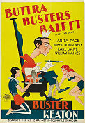 Buttra Busters balett 1930 poster Buster Keaton Edward Sedgwick