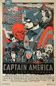 Limited litho CAPTAIN AMERICA Mondo No 529 of 650 2011 affisch