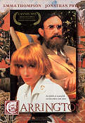 Carrington 1995 poster Emma Thompson Christopher Hampton