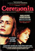 Ceremonin 1995 poster Isabelle Huppert Claude Chabrol