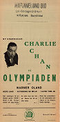 Charlie Chan på olympiaden 1937 poster Warner Oland H Bruce Humberstone