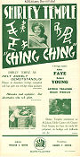 Ching-Ching 1936 poster Shirley Temple William A Seiter