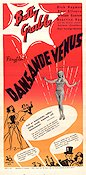 Dansande Venus 1945 poster Betty Grable