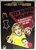 Den blonda tornadon 1949 poster Betty Hutton