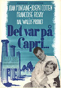 Det var på Capri 1950 poster Joan Fontaine William Dieterle