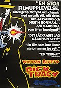 Dick Tracy 1990 poster Madonna Warren Beatty