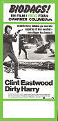 Dirty Harry Poster 30x70cm GD 10cm klippt original