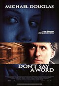 Don't Say a Word 2001 poster Michael Douglas Gary Fleder