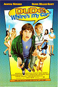 Dude Where´s My Car 2000 poster Ashton Kutcher Danny Leinerm