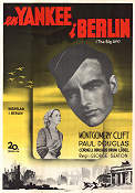 En yankee i Berlin 1950 poster Montgomery Clift George Seaton