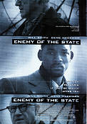 Enemy of the State 1998 poster Will Smith Tony Scott