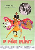 F för Flint 1967 poster James Coburn