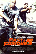 Fast and Furious 5 2011 poster Paul Walker