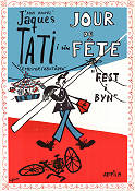 Fest i byn 1949 poster Guy Decomble Jacques Tati