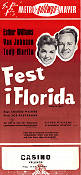 Fest i Florida 1954 poster Esther Williams