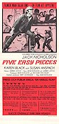 Five Easy Pieces 1971 poster Jack Nicholson Bob Rafelson