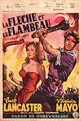 The Flame and the Arrow Poster 35x50cm Belgium GD-FN original