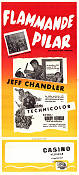 Flammande pilar 1953 poster Jeff Chandler Lloyd Bacon
