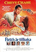 Fletch är tillbaka 1989 poster Chevy Chase Michael Ritchie