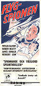 Flygspionen 1953 poster Phyllis Calvert Anthony Asquith