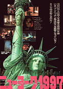 Flykten från New York 1981 Filmaffisch Kurt Russell John Carpenter