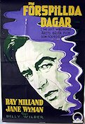 Förspillda dagar 1946 poster Ray Milland Billy Wilder