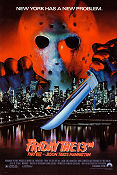 Friday the 13th part 8 1989 poster Jensen Daggett Rob Hedden