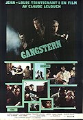 Gangstern 1971 poster Jean-Louis Trintignant Claude Lelouch